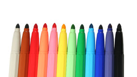 Color felt pens Stock Photography