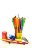 Color felt tip pens Stock Photos