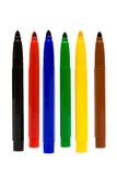 Color felt-tip pens Stock Image
