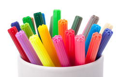 Color felt-tipped pens Royalty Free Stock Photography