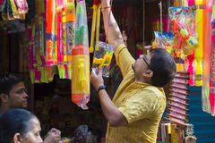 Color of festival 2016. Shankhari Bazar in big color powder market of dhaka ready for big Hindu festival in Dol and Holi festivals. Over the years it has become Stock Image