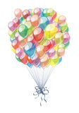 Color festive balloons. A card with color festive balloons Royalty Free Stock Photography
