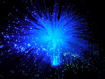 Color fiber optic cables Royalty Free Stock Image