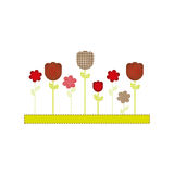 Color figures flowers plants icon Stock Image