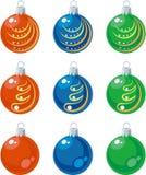 Color fijado bolas 01 Fotos de archivo libres de regalías