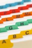 Color File Stock Photo