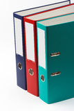 Color file folders Stock Images