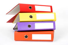 Color file folders Royalty Free Stock Photos