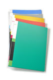 Color file folders isolated stock image