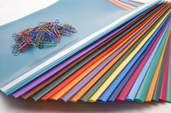 Color files. Color files on white background Royalty Free Stock Photo