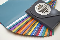 Color files. Color files, notebook on white background Stock Photo