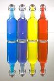 Color Filled Bottles Stock Photo