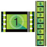 Color film 70mm. The old film for decoration Stock Images