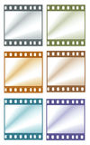 Color film frames. For background Royalty Free Stock Photography