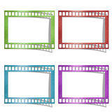 Color of film icons. Color of film created by grunge paper cut isolate on white background Royalty Free Stock Image
