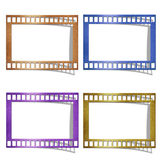 Color of film icons. Stock Images