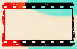 Color film strip background. And texture Royalty Free Stock Photos