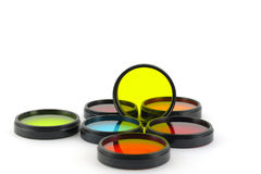 Color filters. For lenses over white royalty free stock image