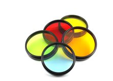 Color filters for lenses Stock Photo