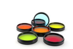 Color filters for lenses Stock Photos