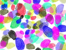 Color finger prints Stock Photography