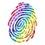 Color fingerprint Stock Images