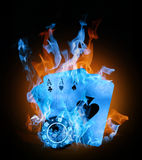 Color fire Stock Photo