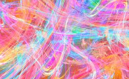 Color Fire Chaos Abstract. Colors fire fantasy unreal chaos abstract, horizontal background Stock Photo