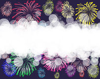 Fireworks background. Color firework on a background Stock Images