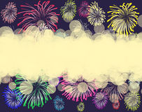 Firework. Color firework on a background Stock Images