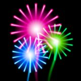 Color fireworks on black background Stock Photo