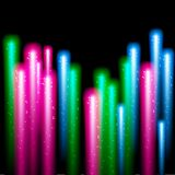 Color fireworks on black background. EPS10 vector Stock Images