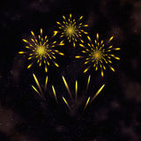 Color fireworks on dark background Royalty Free Stock Photo