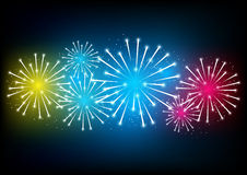 Color fireworks Stock Photos
