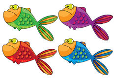 Color fish. Illustration of a color fish Stock Photos