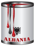 Color of the flag of Albania Stock Photos