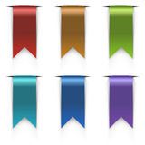 Color flag tags set Stock Photo
