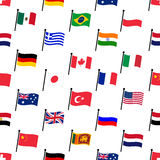 Color flags of different country seamless pattern Royalty Free Stock Photos