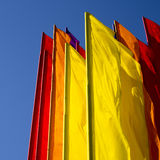 Color flags Royalty Free Stock Photo