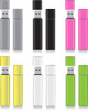 Color flash drive royalty free stock photos