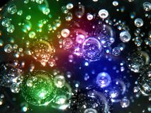 Color flashes and bubbles Stock Photography
