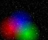 Color flashes in space Stock Photography