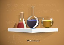 Color flasks Royalty Free Stock Image