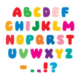 Color flat artistic alphabet font Stock Photography