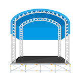 Color flat design sectional concert metal stage Royalty Free Stock Images