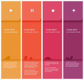 4 color flat design template Royalty Free Stock Image