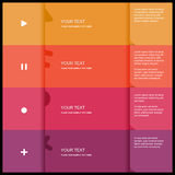 4 color flat design template. Vector Illustration Royalty Free Stock Photos