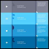 4 color flat design template Royalty Free Stock Photo