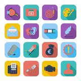 Color flat icons 8 Royalty Free Stock Image