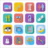 Color flat icons 5 Stock Photography